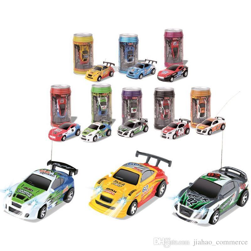 Mini-Racer Remote Control Car Coke Can Mini RC Radio Remote Control Micro Racing 1:64 Car 8803 children toy Gift