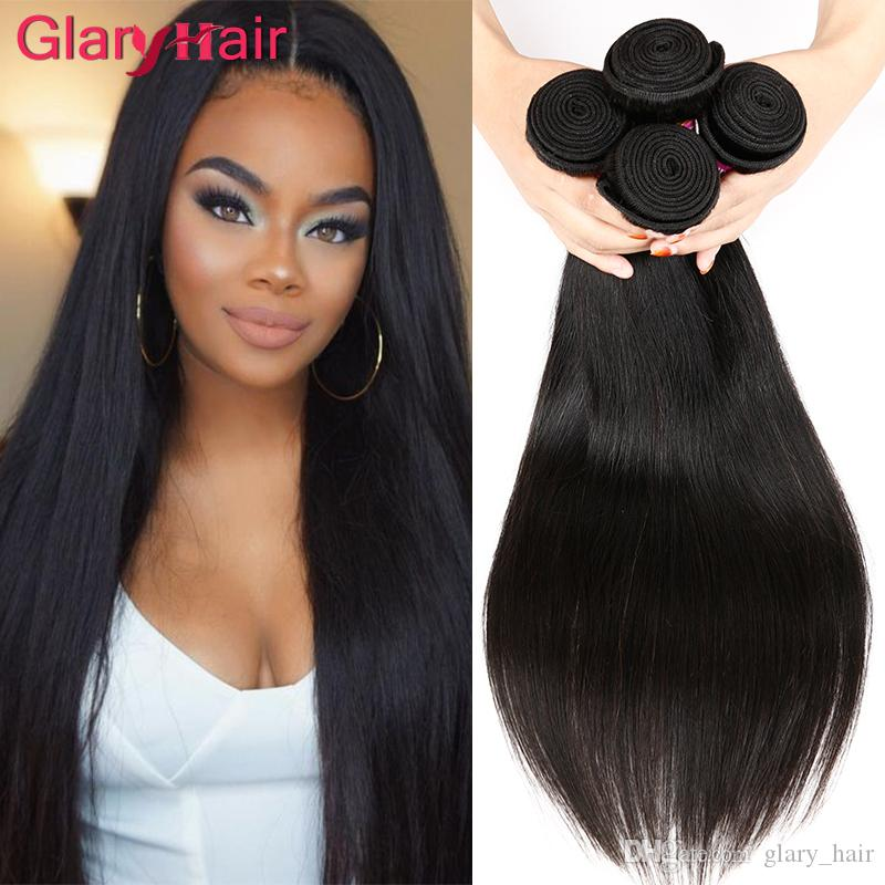 Glary Hair Products Women S Long Soft Cheap Straight Human Hair Bundles  100% Brazilian Virgin Hair Weave Extensions Real Human Hair Weave Human  Hair Weaving ... 860588193