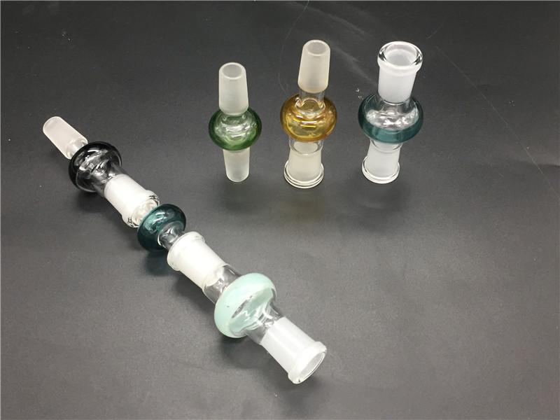 다채로운 유리 어댑터 변환기 여성 14mm 18 mm 14 mm 18 mm 여성 남성 유리 어댑터 오일 릭에 대 한 유리 봉