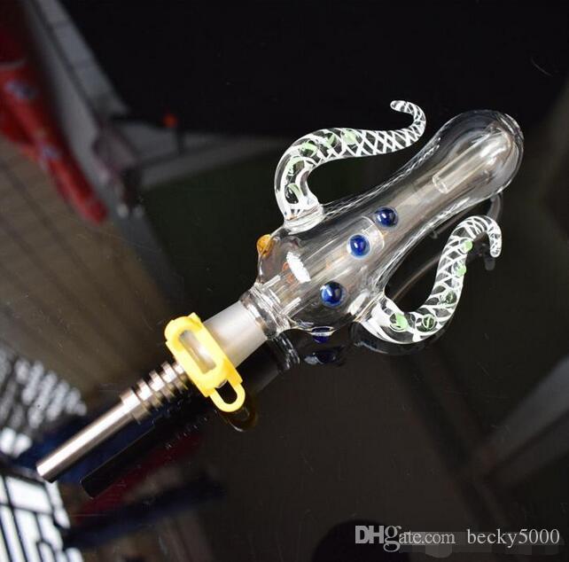 Версия 5.0 NC Set Осьминог Дизайн 14мм 19мм NC Kit с титановым гвоздем мини Стеклянные трубы для воды Бонг