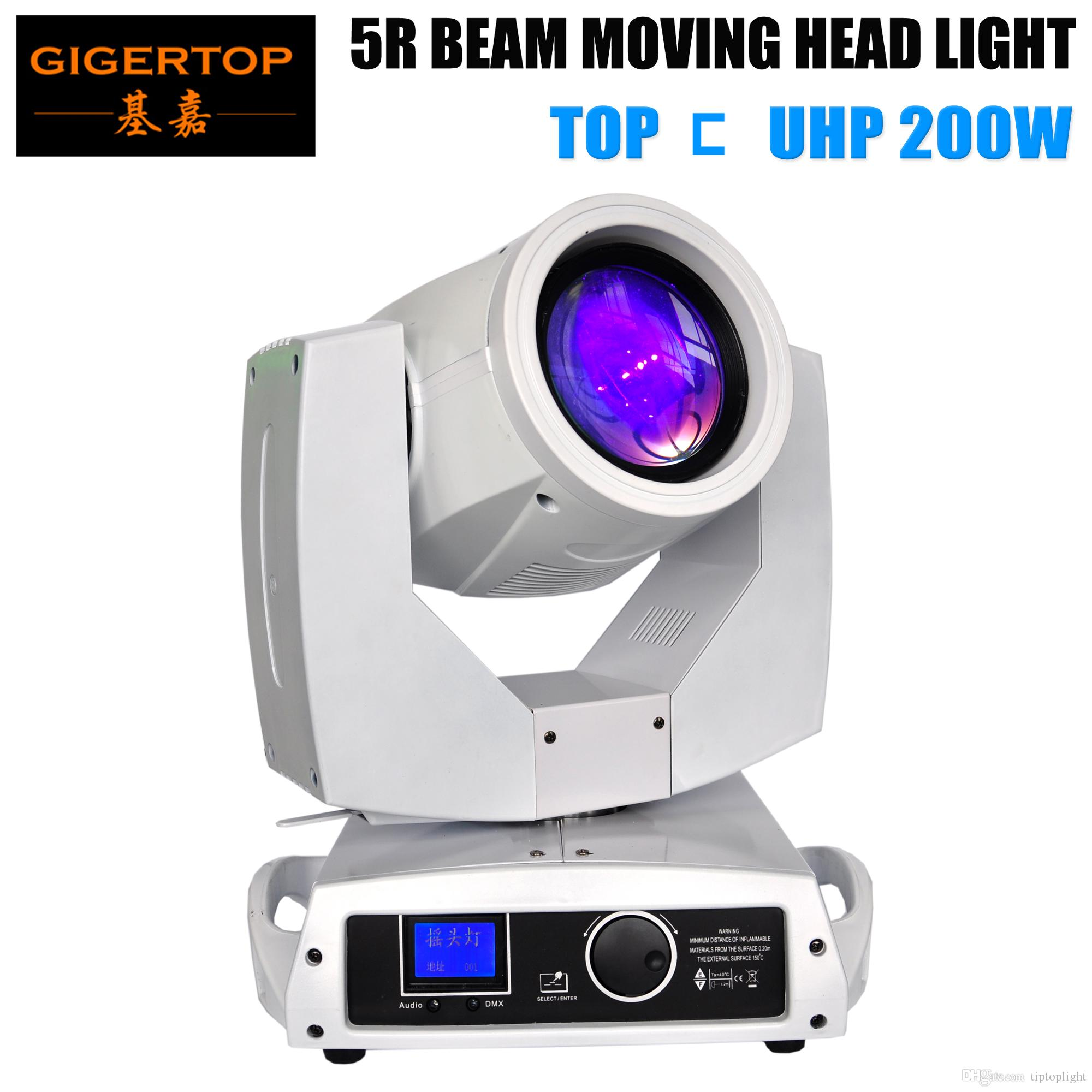 TIPTOP TP-5R White Case Painting Professional 5R 200W Moving Head Light NMB Cooling Fan Long Time Original TOP UHP Bulb Fast Moving Speed