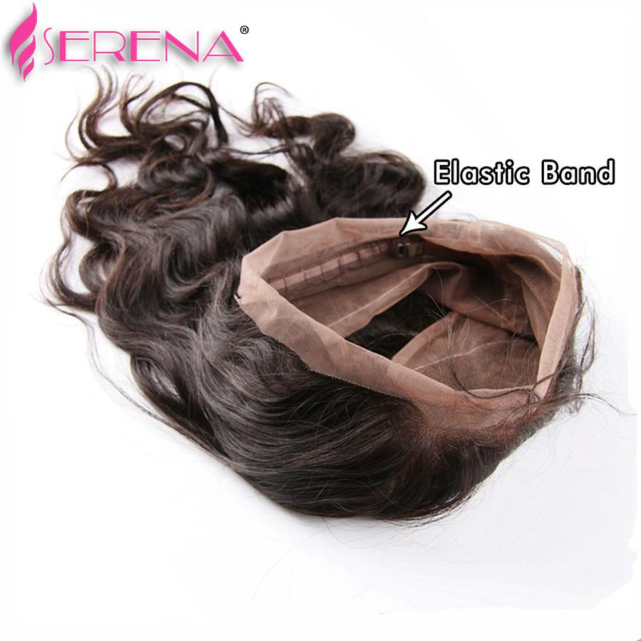 Pre Plucked 360 Lace Frontal With Bundles Brazilian Body Wave Virgin Hair 7A Human Hair Wefts 360 Lace Band With Baby Hair Wavy