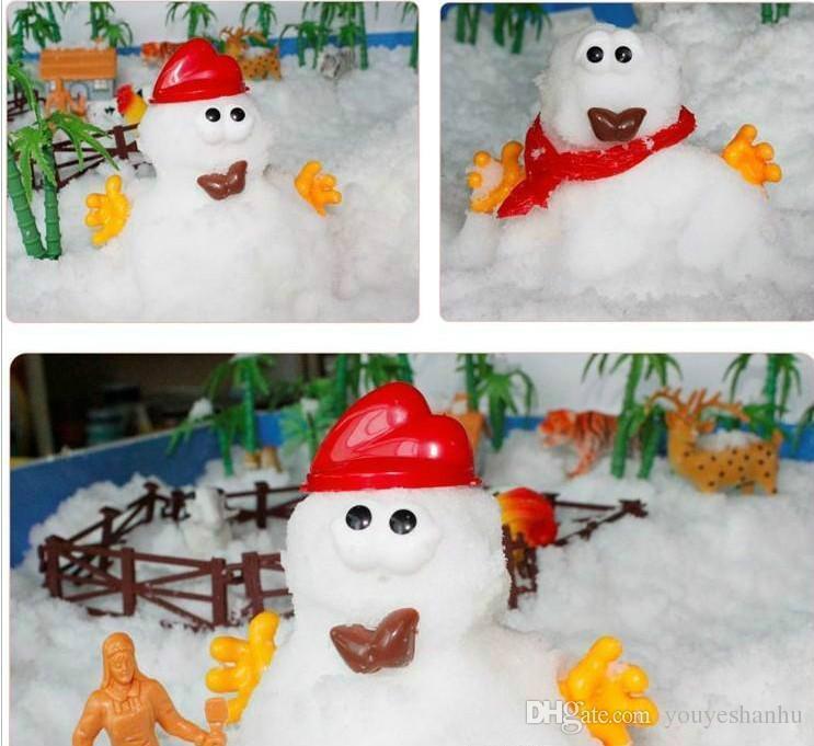 매직 스노우 DIY 인스턴트 인공 스노우 파우더 시뮬레이션 스노우 매직 프로방스 웨딩 파티 크리스마스 실내 장식 아이 선물을 수행 8g