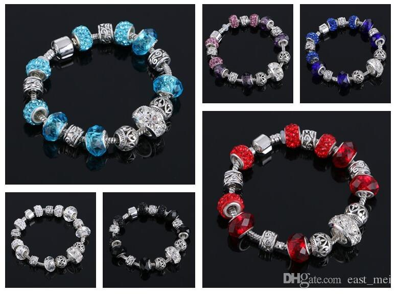 Best gift Creative crystal bracelet hot jewelry jewelry girl DIY jewelry FB334 mix order 20 pieces a lot Charm Bracelets