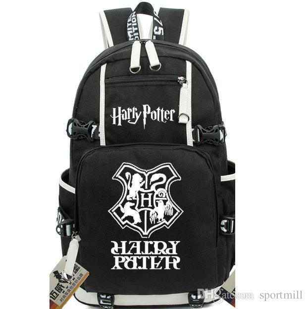 2018 harry potter backpack college school bag institute. Black Bedroom Furniture Sets. Home Design Ideas