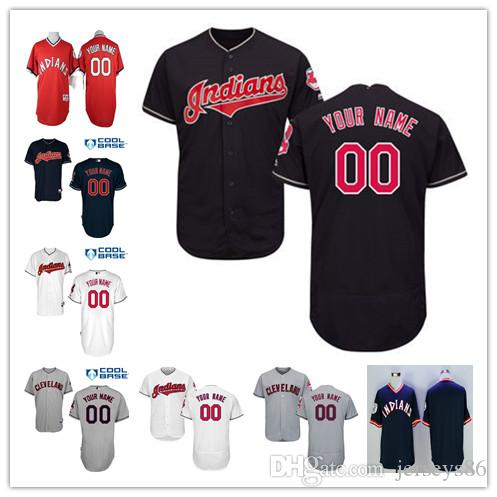 finest selection 20c4a cc294 kids cleveland indians customized white jersey