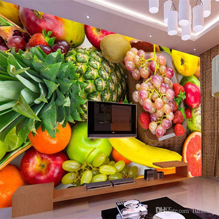 Fresh Fruit Large Mural Cold Drinks Ice Cream Tea Shop Dessert Coffee Shop  Wallpaper Living Room Background Wall Paper