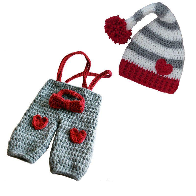 Compre Traje De Día De San Valentín De Punto Recién Nacido, Hecho A ...