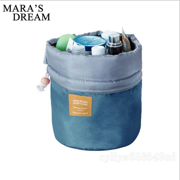 Phone bag New Korean elegant large capacity Barrel Shaped Nylon Wash Organizer Storage Travel Dresser Pouch Cosmetic Makeup Bag For Women