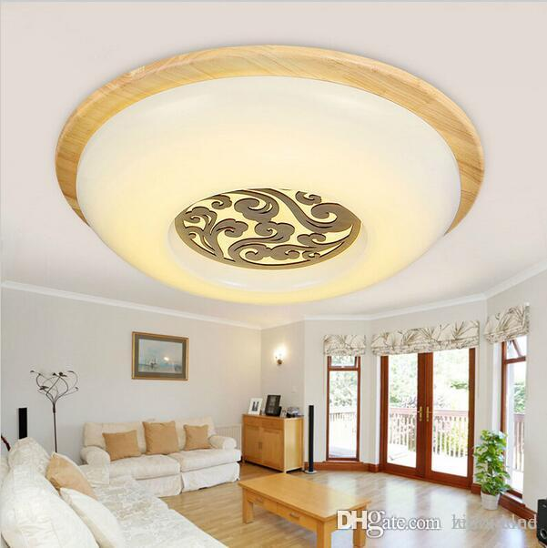 Oak modern led ceiling lights for bedroom kitchen balcony lamparas de techo wooden led ceiling lamp fixtures abajur oak ceiling light mediterranean ceiling