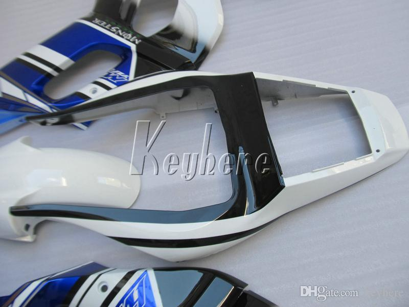 7 cadeaux de carénage gratuits pour Yamaha YZR R6 98 99 00 01 02 kit de carénage bleu blanc YZFR6 1998-2002 HT25