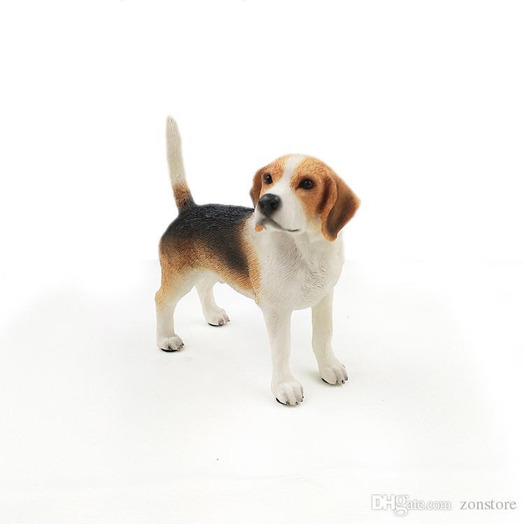 Arti e artigianato Beagle Hound Hound Canino Pedigree carino cucciolo carino statua marrone in piedi Staue scultura gli amanti del cane