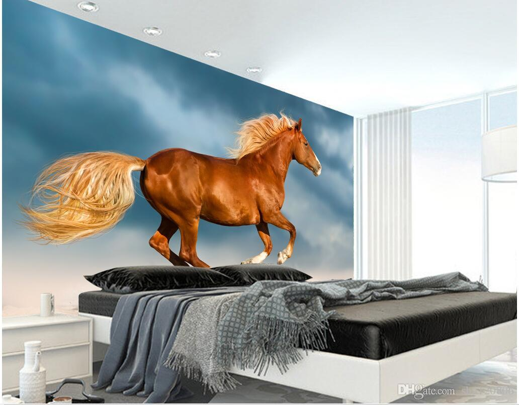 3d room wallpaper custom photo Dream the white horse background wall decorate painting 3d wall murals wallpaper for walls 3 d