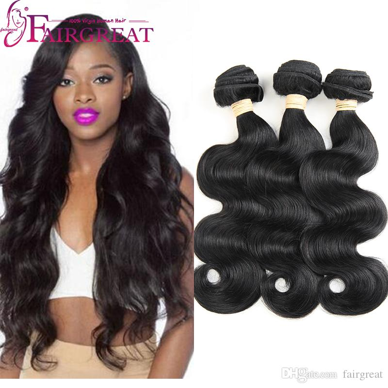 Body Wave Brazilian Human Hair Weaves Mink Unprocessed Human Hair