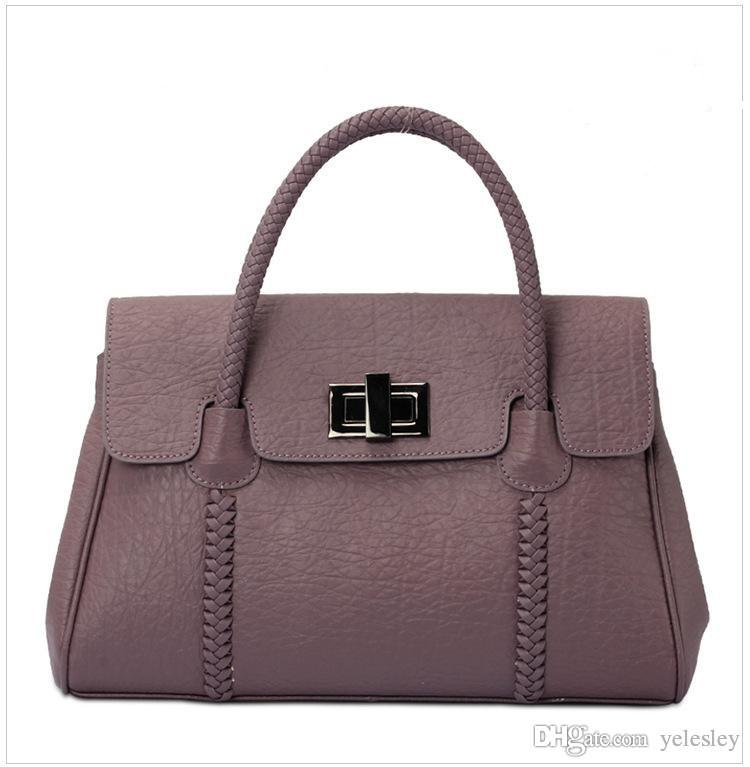 Diseñadores famosos Bolsas de hombro Bolso de la marca Bolso de cuero genuino bolsa de mensajero Mujeres bolso de cuero real marca solo bolso de hombro