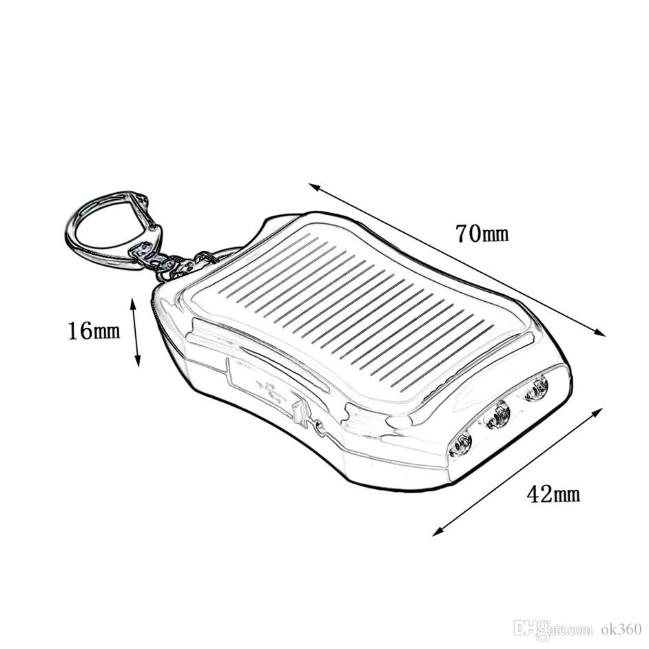 1200mAH Solar Charger Solar Keychain Mobile Power Supply Energy Saving Charger/Battery Power Bank For Cellphone with Key Rings