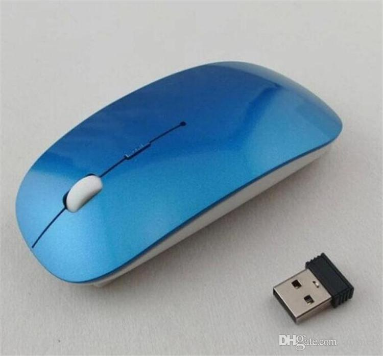 High Quality Ultra Thin USB Optical Wireless Mouse 2.4G Receiver Super Slim Mouse For Computer