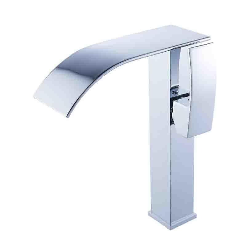 beautiful Stainless Steel Waterfall Faucet Part - 7: 2018 BAKALA Stainless Steel Tall Version Basin Faucet Waterfall Faucet  Hotu0026Cold Mixer Bathroom Tap Sink Chrome Finish LT514B From Qinqinmeling, ...