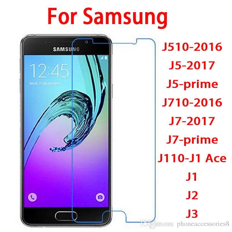 bulk sale tempered glass screen protector film for Samsung galaxy J510-2016  J5-2017 J5-prime J710-2016 J7-2017 J7-prime J110-J1 Ace J1 J2 J3