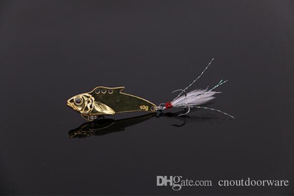 Nowo Fishing Lure VIB Cekina Metalowa Sztuczna Ryba Przynęta 32mm 7.2G Bass Bass, Grouper, Snakehead Leurre z darmowymi Rękawice wędkarskie