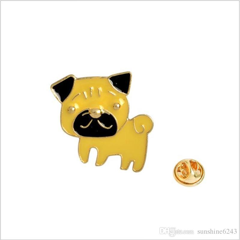 Poodle Pomeranian Corgi Bulldogs Broches de Cão Esmalte Duro Pin Lapela Pin Emblema Presente Para Os Amantes do Cão