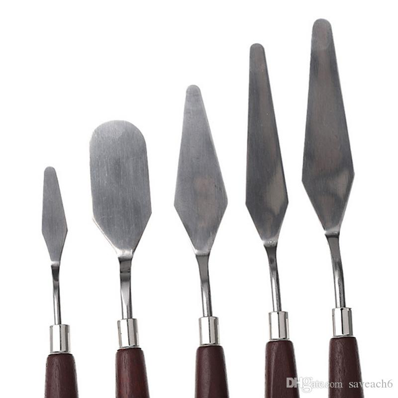 Professional Stainless Steel Artist Oil Painting Palette Knife Knives Spatulas Mixing Scraper Art Supplies with package