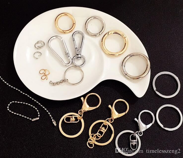 고품질 랍스터 걸쇠 고리 열쇠 고리 열쇠 고리 액세서리 합금 보석 만들기 재료 금색과 슬리버