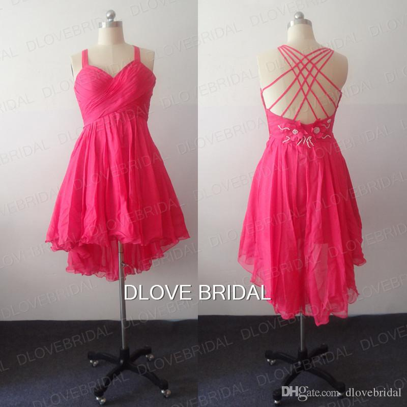 Short Hot Pink Prom Dresses
