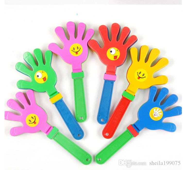 Plastic Hand clapper clap toy cheer leading clap for Olympic game football game Noise Maker Baby Kid Pet Toy DHL Free
