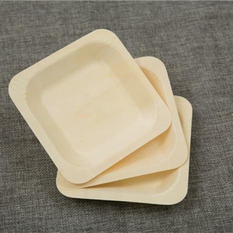 Wholesale-100x Disposable Wooden Plate Cake Dessert Dish Environmentally Friendly Biodegradable Wild Outdoor Dining Wholesale 14cm Plate Cake Disposable ... & Wholesale-100x Disposable Wooden Plate Cake Dessert Dish ...