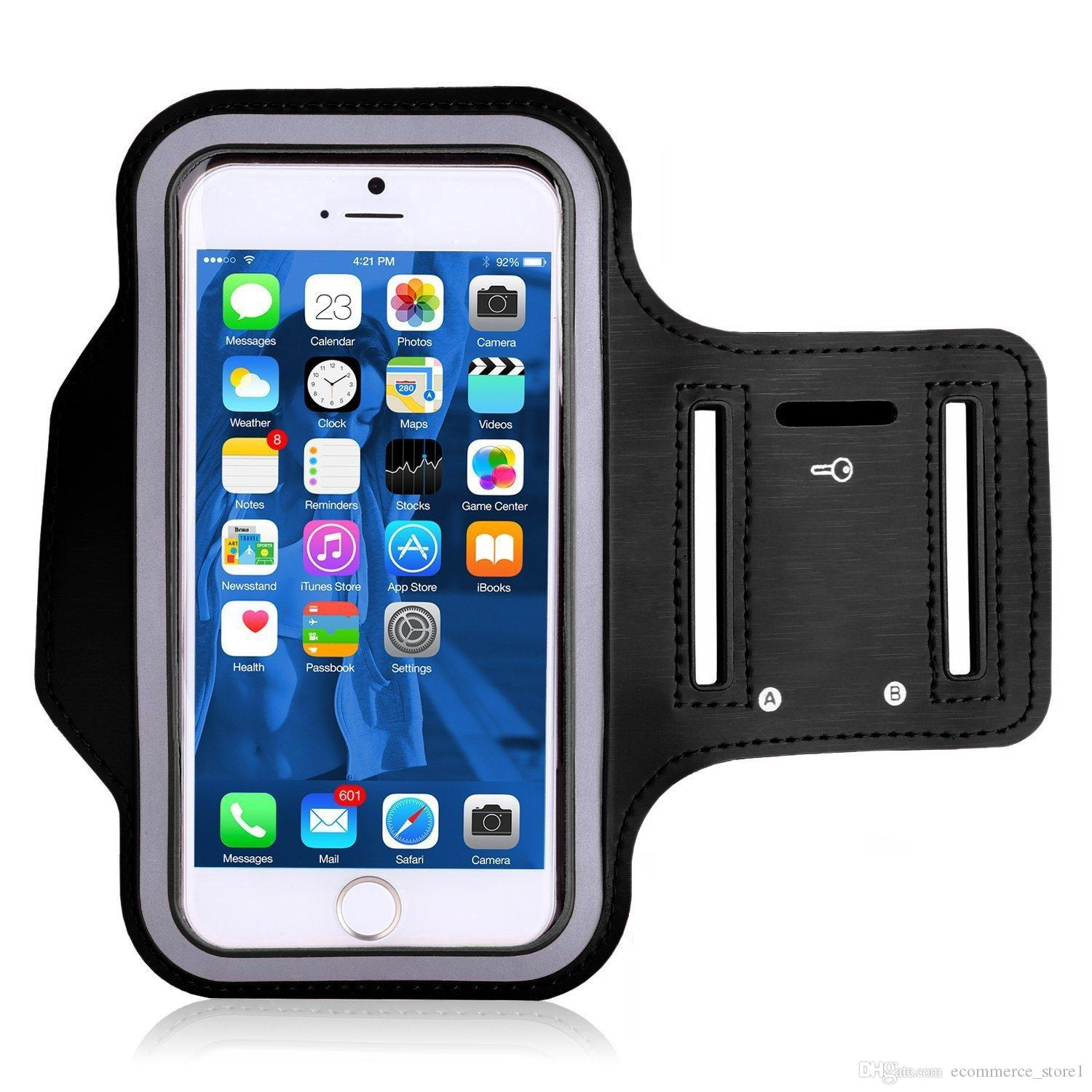 For Iphone 7 7Plus Waterproof Sports Running Case Armband Running bag Workout Armband Holder Pounch Cell Mobile Phone Arm Bag Band
