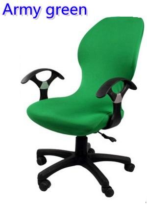 Army Green colour lycra computer chair cover fit for office chair with armrest spandex chair cover decoration wholesale