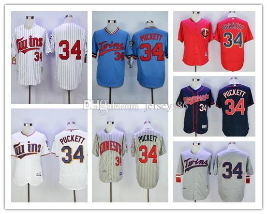 8ac75bff13f ... Replica Light Blue 1984 Turn Back The Clock 2017 Discount 34 Kirby  Puckett Jersey Flexbase Cool Base Cooperstown Minnesota Twins Throwback  Shirts 1987 ...