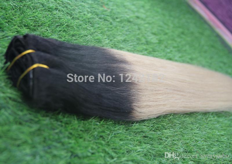 عنصر جديد! البرازيلي أومبير الشعر 1b / البلاتين شقراء الإنسان الشعر مستقيم نسج رخيصة 613 أومبير الشعر مختلطة 10 '- 30'