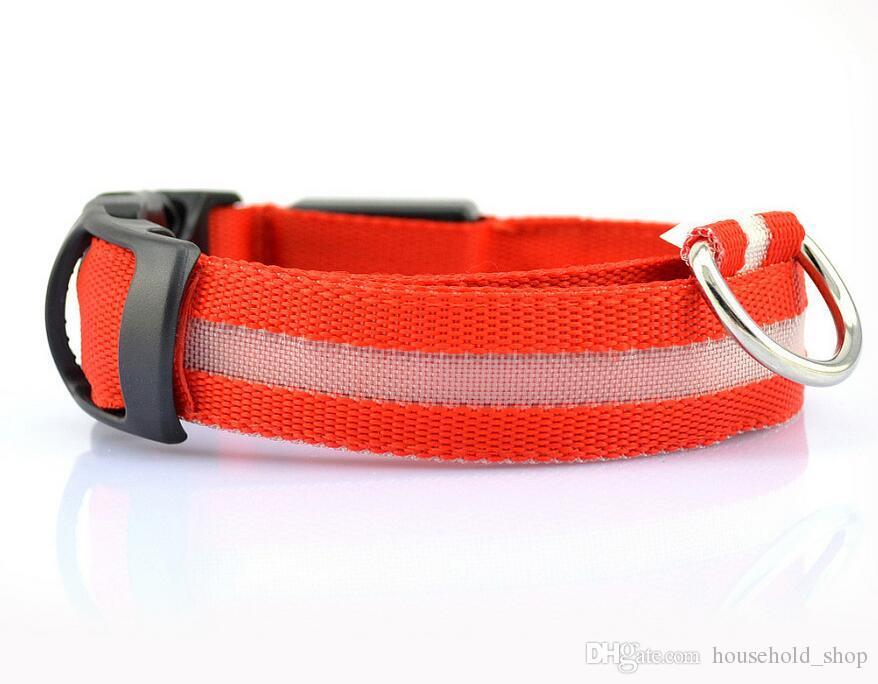 LED Collar para mascota Perros Collar intermitente para gatos Collar LED Collar de seguridad para perros Perdidos Perdidos Collar resplandeciente