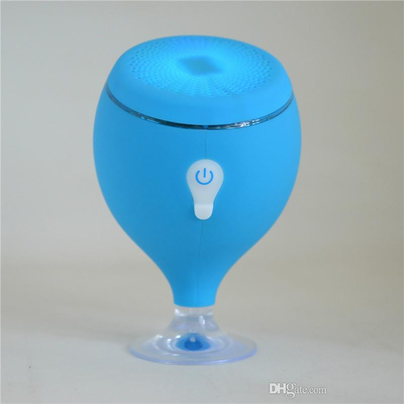 2017 Mini Whale Tail Floating IPX6 Waterproof Shower Portable Bluetooth Hifi Speaker with Sucker Phone Holder Stands led Light MIS135
