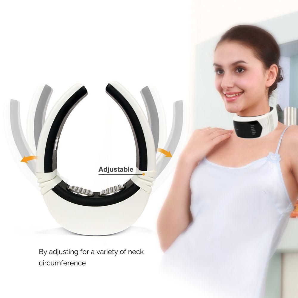 Telecomando senza fili Massaggio del collo Vibratore Riscaldamento a infrarossi lontano Terapia cervicale Collo Cuscino Sollievo dal dolore Salute Cura di bellezza
