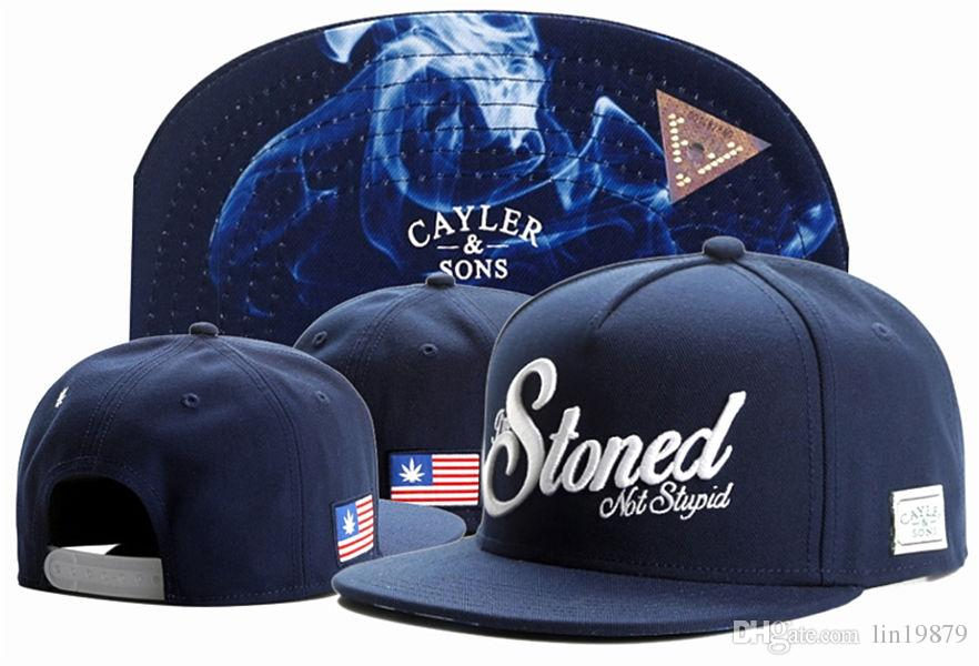 New Fashion Cayler   Sons Stoned Not Stupid Baseball Caps Snapback Hats  Casquettes Chapeu Sunbonnet Sports Cap For Man Woman Hip Hop Make Your Own  Hat ... b67f58a9decd