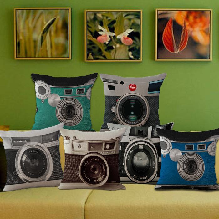 Acheter 45cm Caméra De Mode Housse D'oreiller Décoratif Canapé Lit on