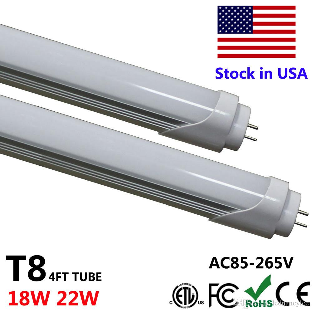 LED Light 4 FT Tube T8 Epistar LED 18W 22W 28W 4 Feet LED Fluorescent Tube Bulb Lamp smd t8 lead tube