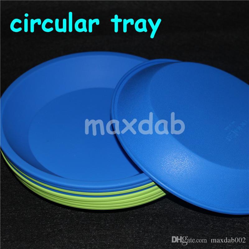 Sıcak renkli dairesel silikon tepsi Derin Çanak Yuvarlak Pan 8