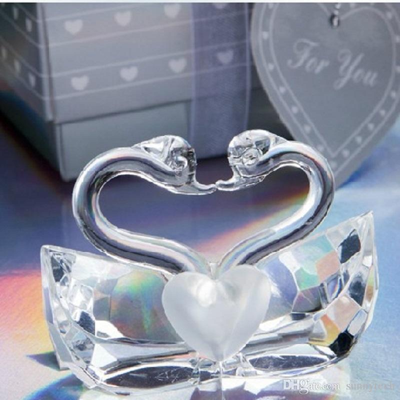 Crystal Wedding Gift: Romantic Wedding Favors And Gift K5 Crystal Kissing Swans