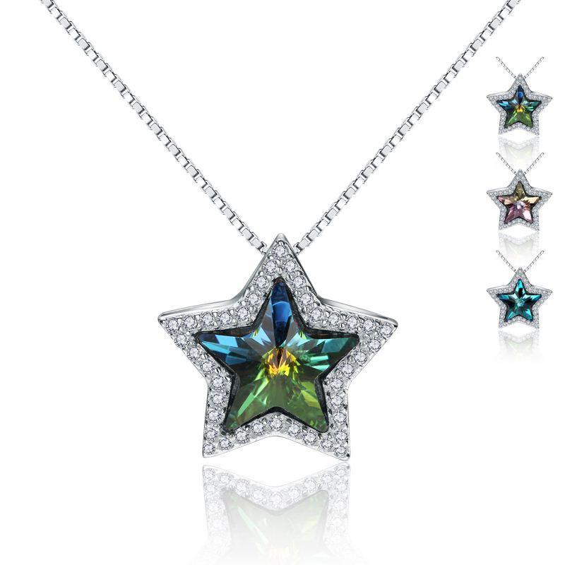 925 nuovo micro argento originale intarsiato Austria stelle di cristallo ingrosso di gioielli di stile pendente d'argento amico bestie vacanza Sterling Silver