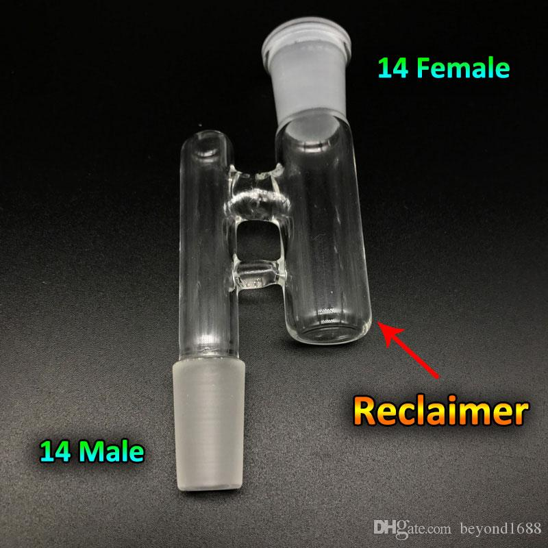 14mm 18mm Reclaim Catcher Adapters Female Male 14mm 19mm Oil Reclaim Ash Catcher Glass Drop Down Adapters For Oil Rigs Glass Bongs