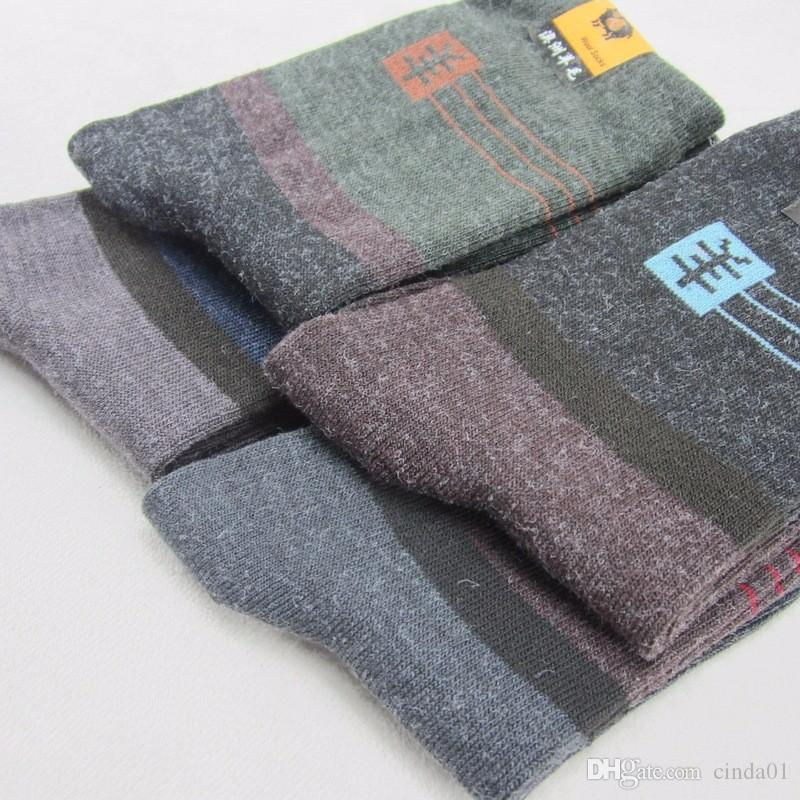 Men Socks Cotton Sweat Absorbing Breathable Winter Warm Thick Woolen Casual socks Men Sock Pack Winter Warm Clothing Accessories
