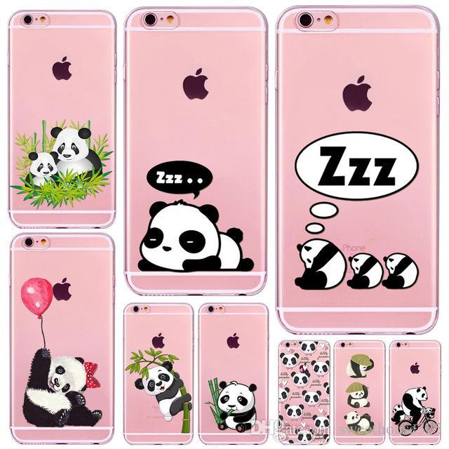 coque silicone panda iphone 6