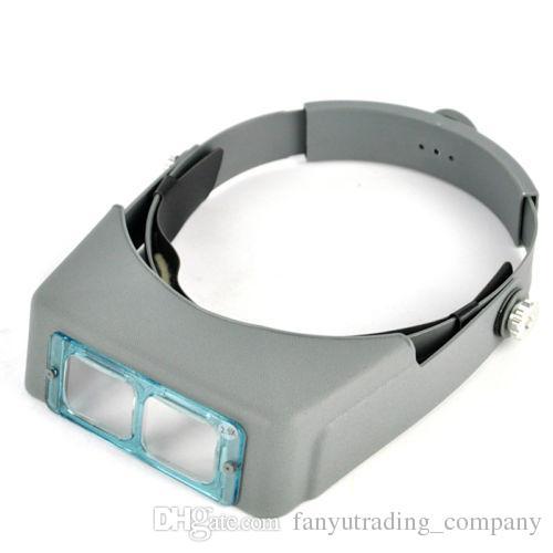 4 Objektiv Kopf Band Binokularlupe Optivisor Headset Licht Lampe Kopf Band Set 4x beleuchtete Lupe Auge Lupe Uhr Reparatur Schweißen
