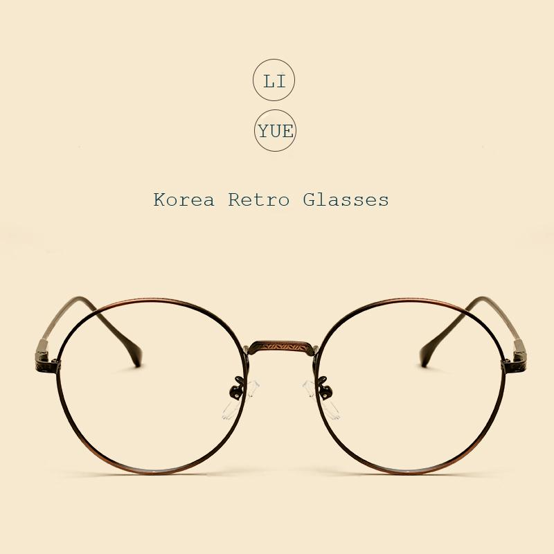bffed03e444 2019 Wholesale LIYUE Fashion Women Eye Glasses Brand Designer Spectacles  Frames Vintage Round Glasses Metal Optical Frame Prescription Eyewear From  Huteng