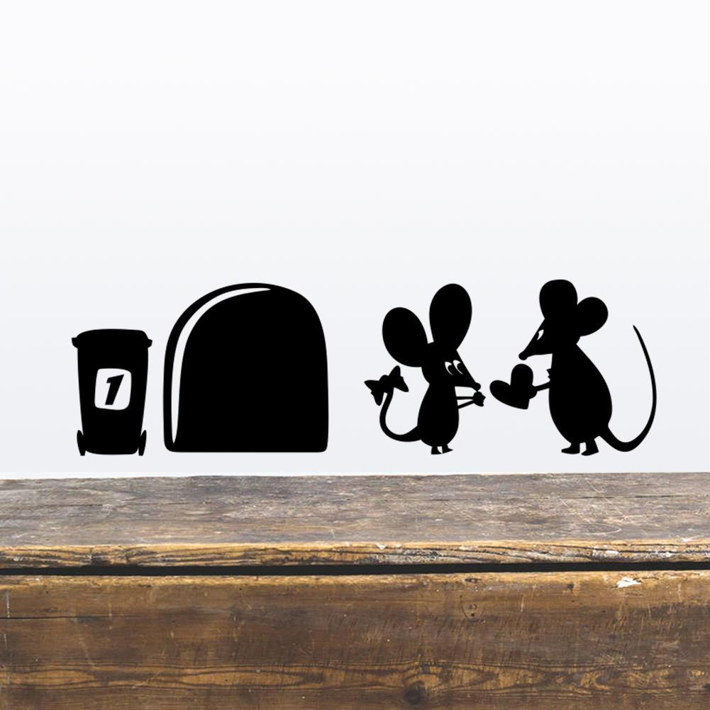 wholesale funny love mouse hole wall stickers for kids rooms wall wholesale funny love mouse hole wall stickers for kids rooms wall decals vinyl mural art home decoration vintage poster wall tattoos decals wall to wall