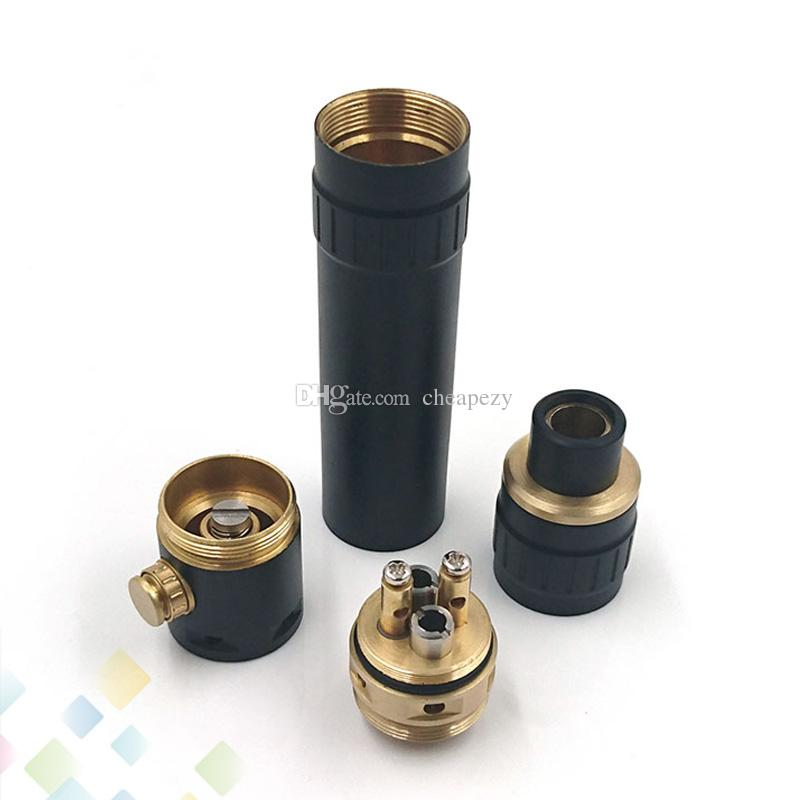 New Dominus Kit Come With Dominus Mechanical Mod and 2 Post Rebuildable Dripping Atomizer fit 18650 Battery DHL Free